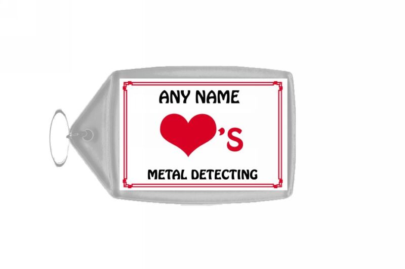 Love Heart Metal Detecting Personalised Keyring