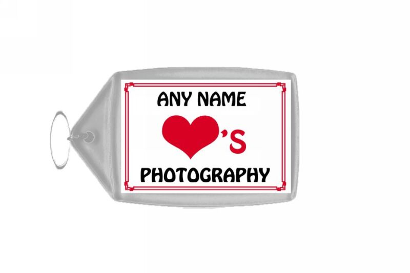 Love Heart Photography Personalised Keyring