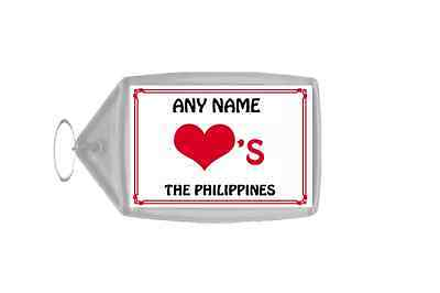 Love Heart The Philippines Personalised Keyring