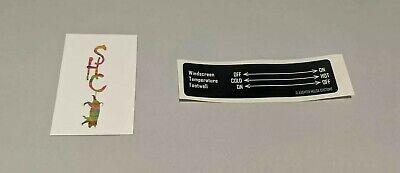 VW T25 T3 Vanagon Heating Controls Sticker - CHARITY Sticker! 3 Switch
