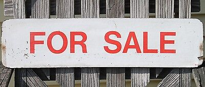 """vintage 2 sided """"For Sale"""" sign laminated fibreboard FREE USA SHIPPING"""