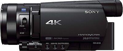 Sony FDR-AX100E 4K Ultra HD Camcorder 12x opt. Zoom ZEISS 20MP Schwarz...
