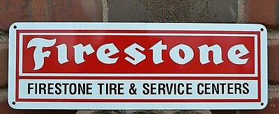 FIRESTONE TIRES SIGN SERVICE CENTER Tire Shop Advertising Mechanic Parts 10day