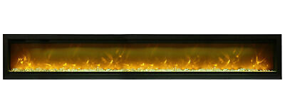 Amantii Symmetry SYM-100-B Clean Face 100″ Basic Built-in Electric Fireplace