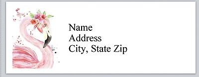 Personalized Address Labels Pink Flamingo Buy 3 Get 1 Free Bx 788
