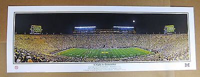 University Of Michigan Football Game -  University of Michigan Football First Night Game Large panoramic 13.5 x 39