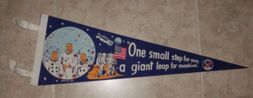 ORIGINAL 1969 APOLLO 11 ASTRONAUT PENNANT