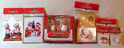 1995 Campbell's Soup Kids Dolls and Accessories Lot (Fibercraft)
