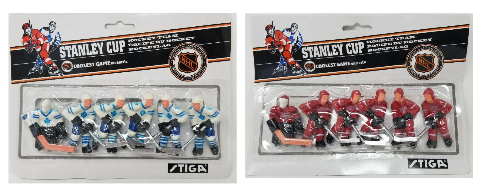 Stiga Detroit Red Wings & Toronto Maple Leafs Table Rod Hock