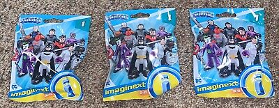 3 Fisher Price Imaginext DC Series 1 Blind Bags Red Hood Nightwing Deathstroke
