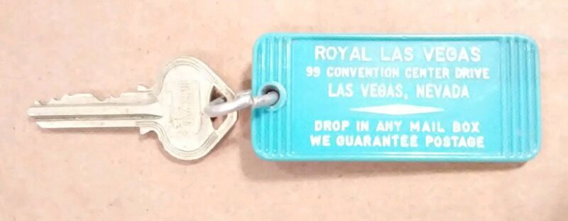 ROYAL LAS VEGAS, NEVADA VINTAGE VAULT ROOM KEY GREAT FOR ANY COLLECTION RARE!