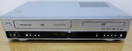 Tedelex 6 Head Hi Fi Stereo VCR TDX-8400 (VCR DVD Combo)