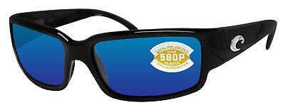 Costa Del Mar Caballito Black Frame Blue Mirror 580P Plastic Polarized (Caballito Costa)