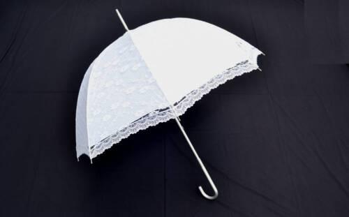 White Lace Wedding Umbrella Bridal Parasol Party Decor NEW