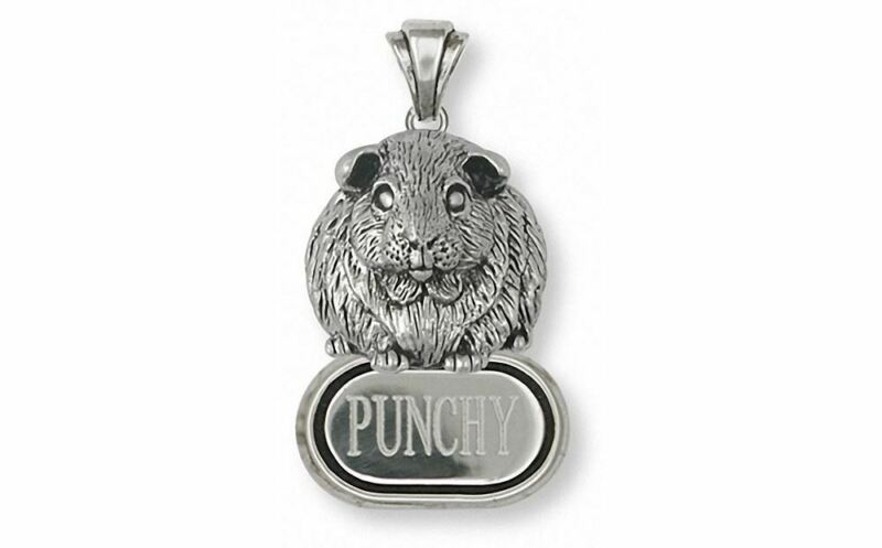 Guinea Pig Pendant Jewelry Sterling Silver Handmade Piggie Pendant GP1-DP