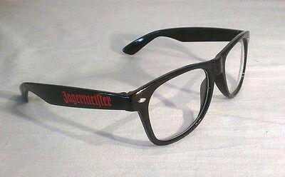 Brille Glasses Jägermeister Logo Hipster Nerd Horn cool Sommer schwarz