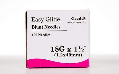 Global Medical Easy Glide Blunt Tip Needle 18 Ga X 1-12 Tip 100 Pcs