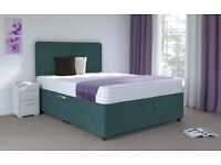 4'6 Double Divan Set with 2FREE Draws + Headboard + FREE Local Delivery!!!