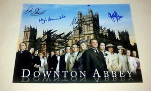 DOWNTON-ABBEY-CAST-X5-PP-SIGNED-POSTER-12-X8-HUGH-BONNEVILLE