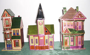 VINTAGE WHEAT STALK HOUSE Jewelery and Treasures Box.$10.00 EA