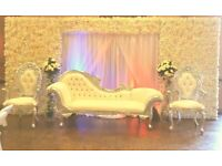 Wedding & Mehndi Stages For Hire,Walkways,Chair covers,Centrepieces,