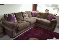 DFS Corner sofa with matching chair & footstool
