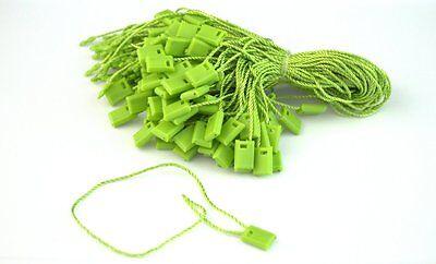 7 500 Pcs Green Hang Tag Nylon String Flat Snap Lock Pin Loop Fastener Ties
