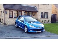 Peugeot 206, 1.4 HDi Verve, 5 Doors, MOT 27-11-2017, Only 67000 Miles £30 Road Tax for a Year, 78MPG