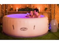 Lay-Z-Spa Paris Inflatable Hot Tub - 4/6 Person - LED Lights & AirJet System