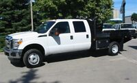 2013 Ford F-350 Crewcab 4x4 chassis 9 ft deck