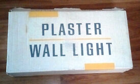 2x New Plaster Wall Lights Uplighter Halogen Bulb Compatible