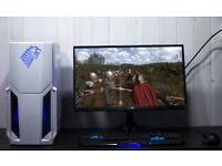 Gaming PC ASUS GT 1030 Kaby Lake i3 Kaby Lake 8GB Nvidia GPU Custom Purple LED 3 Year Warranty
