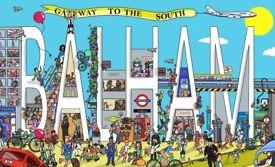 Gateway to the South - Hand Drawn Balham Illustration