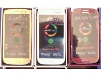 NEW Samsung Galaxy SIII 16GB White/Blue/Red/Gold (UNLOCKED) Boxed Smartphone +Free Extras