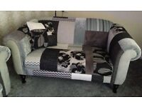 Patchwork Sofa and chair - nearly new !!