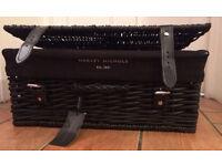 Harvey Nichols black picnic hamper - NEW