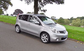 NISSAN NOTE N-TEC - VERY LOW MILES BUILT IN SAT-NAV-BLUETOOTH PHONE CONNECTION. LATE-59 MODEL.