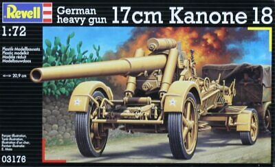 REVELL 03176 GERMAN HEAVY GUN 17 Cm KANONE 18 MODEL KIT ECHELLE 1:72 NEUF