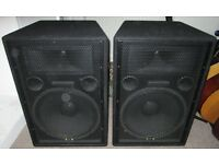 Studiomaster GX15A Active Speakers.