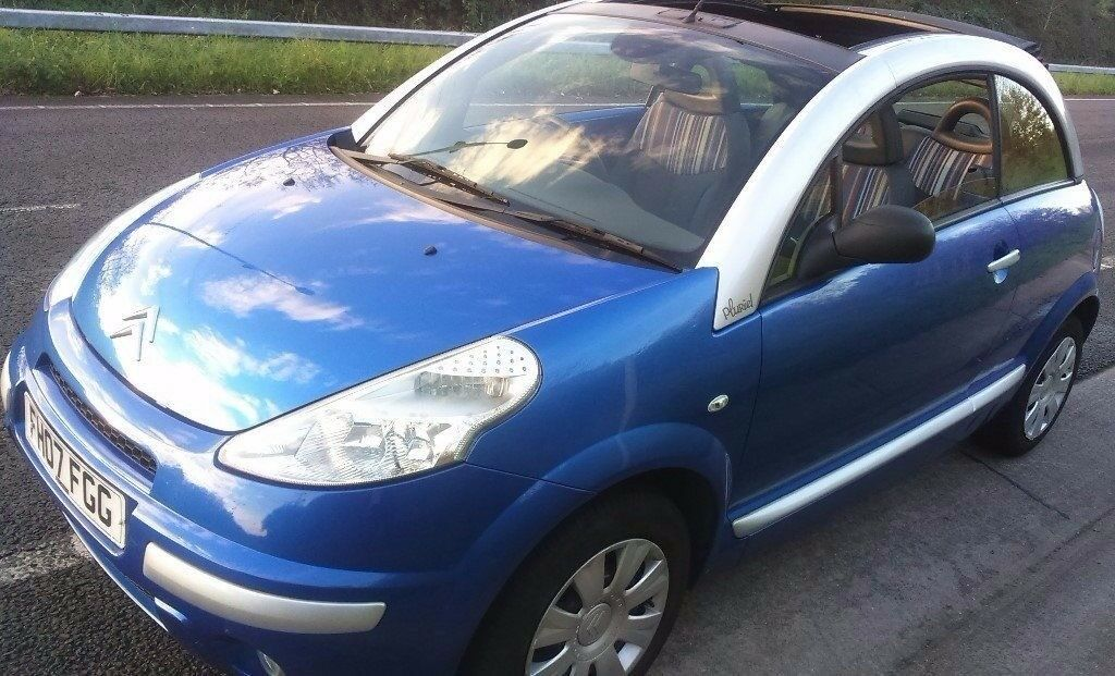 12 MONTH MOT CITROEN C3 PLURIEL 2007 CONVERTIBLE 1.4 PETROL BLUE 3 DOOR 46480 MILE,73 BHP,LOW MILEAG