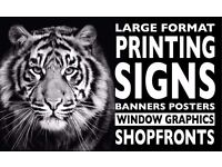 LARGE FORMAT PRINTING & SIGN MAKING - new business startup - promotinal prices