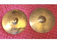 """Zildjian K/Z 14"""" hi hats cymbals"""
