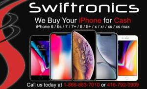 **WANTED**WE BUY YOU iPHONES 6 / 6s / 7 / 7 PLUS / 8 / 8 PLUS / X / Xs / Xs Max/ XR **WANTED**