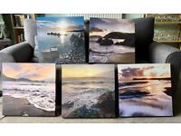 Set of 5 contemporary canvas prints from John Lewis