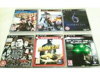 6 ps3 game BUNDLE VERY GOOD CONDITION