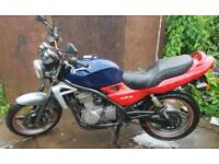 Kawasaki 500cc motorcycle offers welcome