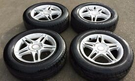 HONDA CIVIC ALLOYS WITH TYRES - 195/65/15