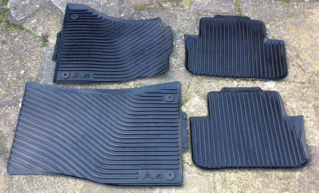 Audi A4 B8 2009-2015 rubber car mats front and rear genuine vgc