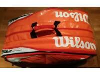Wilson K - Factor Pro Tour Orange / White Tennis racket bag