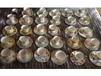 mayfair miniature tea cups and saucers collection